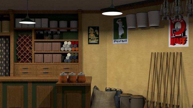 Impressie raam 1 Oude kruidenierszaak Arnemuiden