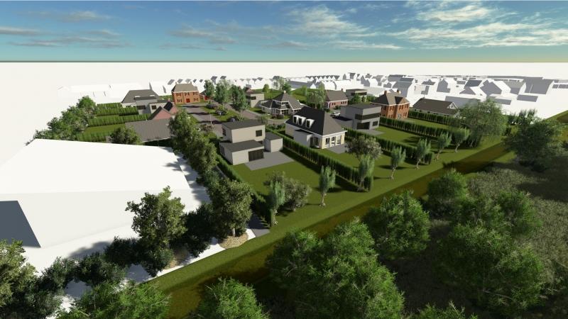 3D impressie overzicht kavels Sprencklaan Middelburg