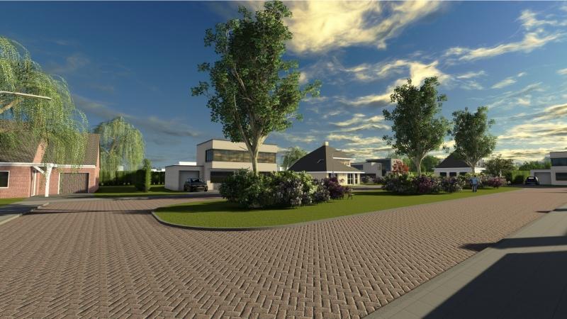 3D impressie woonstraat Sprencklaan Middelburg