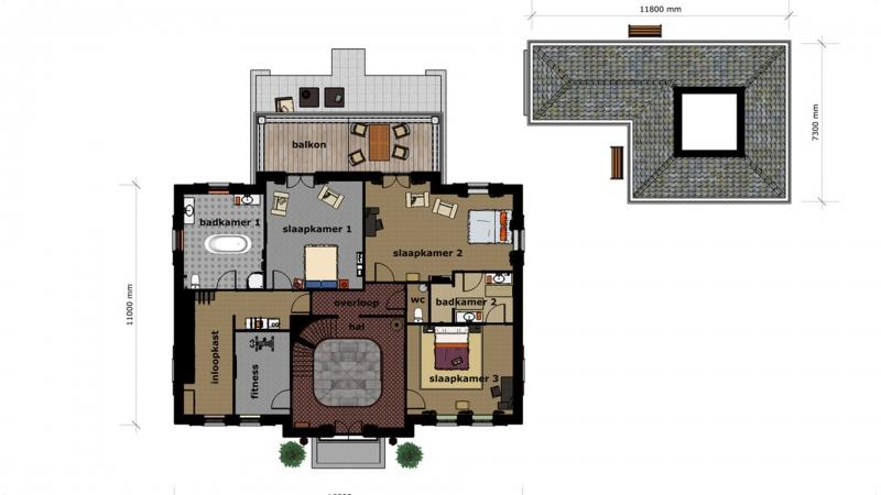 Schetsontwerp eerste verdieping