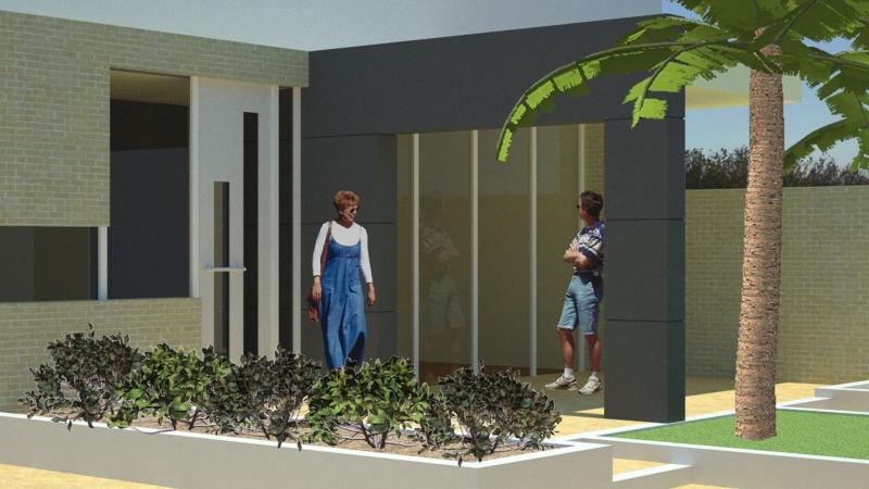 Schetsontwerp aanbouw wonkamer en keuken