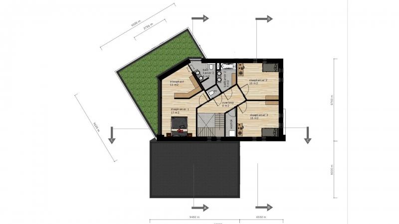 Voorlopig ontwerp verdieping