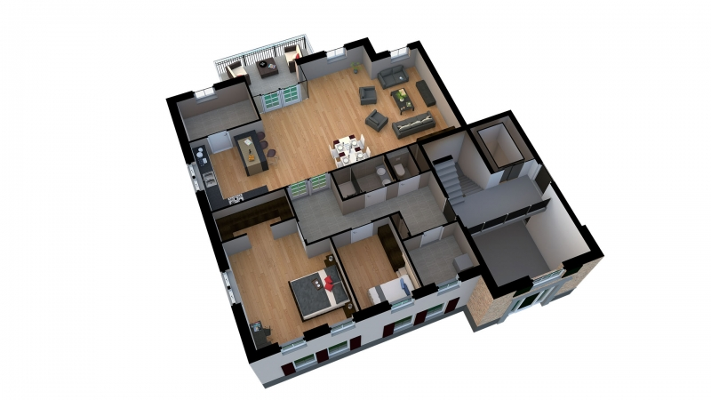 3d plattegrond energieneutrale appartementen zinkweg 64 oud beijerland