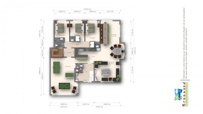 2D plattegrond eerste verdieping recreatiewoning