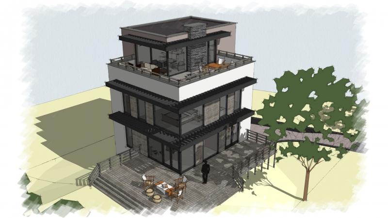energieneutrale woning met dakterras en buitenhaard